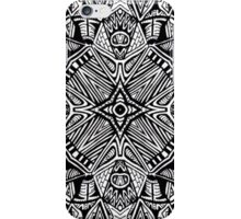 Black and White Aztec Star iPhone Case/Skin