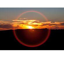 Sunset Halo Photographic Print