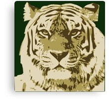 Tiger head in three colors Canvas Print