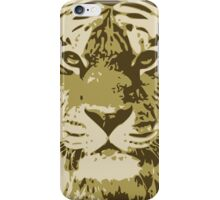 Tiger head in three colors iPhone Case/Skin