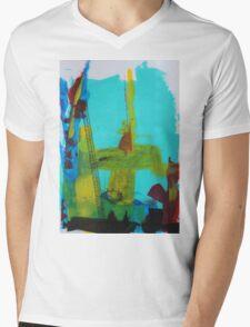 Abstract Mens V-Neck T-Shirt