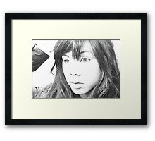 """ Sketching Love "". Framed Print"