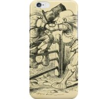 Through the Looking Glass Lewis Carroll art John Tenniel 1872 0199 On the Fence iPhone Case/Skin