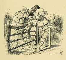 Through the Looking Glass Lewis Carroll art John Tenniel 1872 0199 On the Fence by wetdryvac