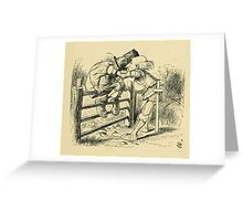 Through the Looking Glass Lewis Carroll art John Tenniel 1872 0199 On the Fence Greeting Card