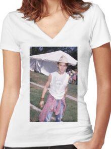 Johnny Depp Women's Fitted V-Neck T-Shirt