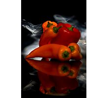 Smokin Peppers Photographic Print