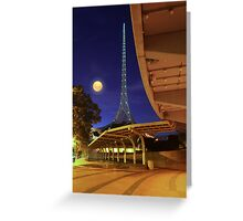 The Spire and the Moon Greeting Card