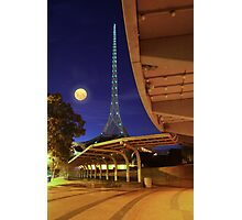 The Spire and the Moon Photographic Print