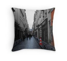 Narrow Streets Of Paris Throw Pillow