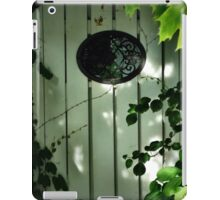 Old Garden Gate with Oval Iron Work and Leaves iPad Case/Skin