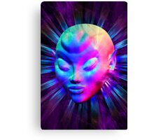 Psychedelic Alien Meditation Canvas Print