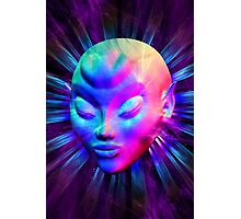 Psychedelic Alien Meditation Photographic Print