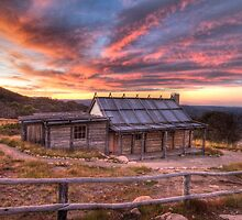 Mt Stirling - Craigs Hut Sunset by Richard  Cubitt