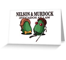 Nelson & Murdock: Avocados at Law Greeting Card