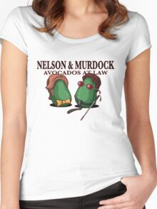 Nelson & Murdock: Avocados at Law Women's Fitted Scoop T-Shirt