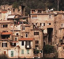How they live on the hilltop, Airole, Liguria, Italy by BronReid