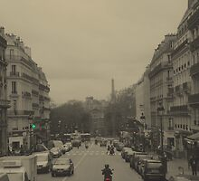 Streets Of Paris by Al Bourassa