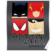 Adoption Works: Adopted Superheroes Poster