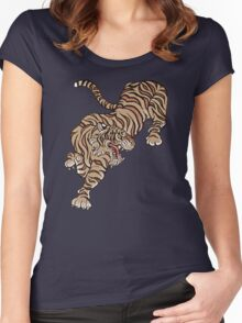 Tiger in Asian Style Women's Fitted Scoop T-Shirt