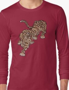 Tiger in Asian Style Long Sleeve T-Shirt