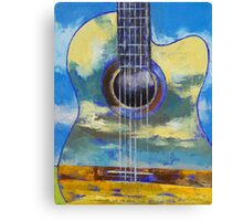 Guitar and Clouds Canvas Print