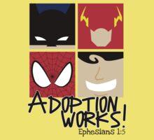 Adoption Works: Adopted Superheroes Kids Tee
