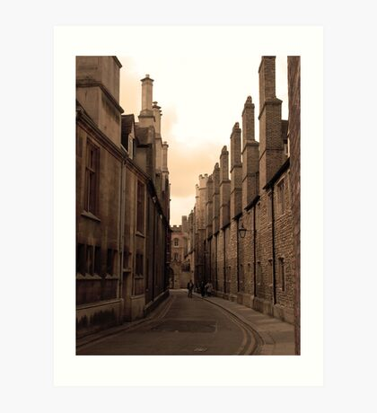 Wandering the lanes of Cambridge Art Print