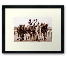 8 Camels Framed Print