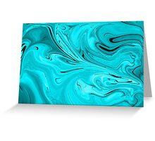 Turquoise Swirls Greeting Card