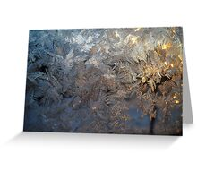 Frosty patterns. Greeting Card