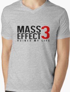 Mass Effect 3 Ruined My Life [White] Mens V-Neck T-Shirt