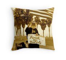 """""""Food Not Bombs"""" Throw Pillow"""