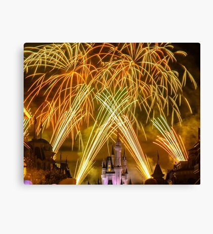 We've Got Some Wishes To Grant! - Wishes Fireworks Canvas Print