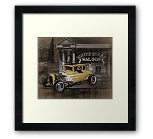 Curb Service Framed Print