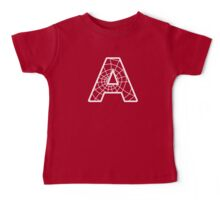 Spiderman A letter Baby Tee