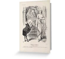Cartoons by Sir John Tenniel selected from the pages of Punch 1901 0072 Change of Address Greeting Card