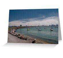 Harbour at St Kilda Greeting Card