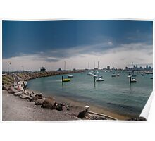 Harbour at St Kilda Poster