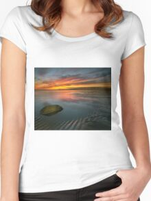 Allonby sunset Women's Fitted Scoop T-Shirt