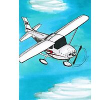 Airplane and Clouds Photographic Print