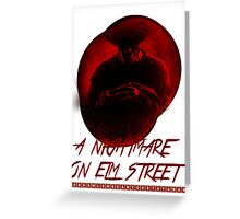 A Nightmare On Elm Street Greeting Card