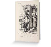 Cartoons by Sir John Tenniel selected from the pages of Punch 1901 0158 Seaside Lodgings Greeting Card