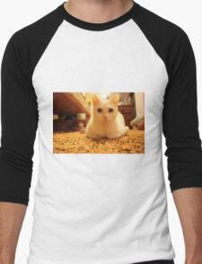 White Cat Men's Baseball ¾ T-Shirt