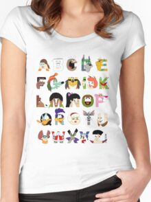 Child of the 70s Alphabet Women's Fitted Scoop T-Shirt