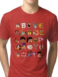Child of the 70s Alphabet Tri-blend T-Shirt
