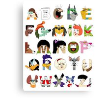 Child of the 70s Alphabet Canvas Print