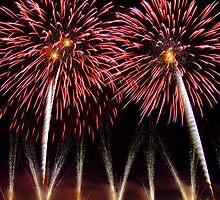 Fireworks, Le Puy de Fou, France by Bob Culshaw