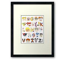 Child of the 90s Alphabet Framed Print