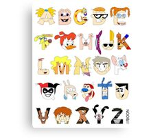 Child of the 90s Alphabet Canvas Print